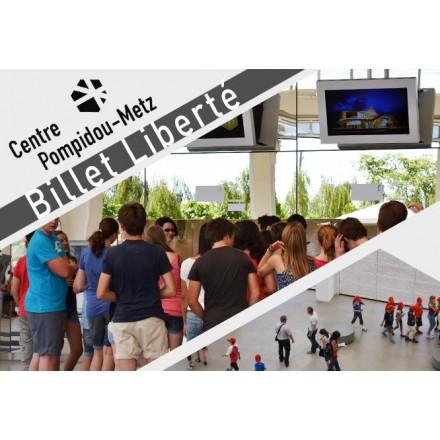 1 Billet entrée Pompidou Metz