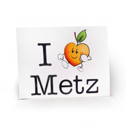 Carte postale 'I Love Metz'