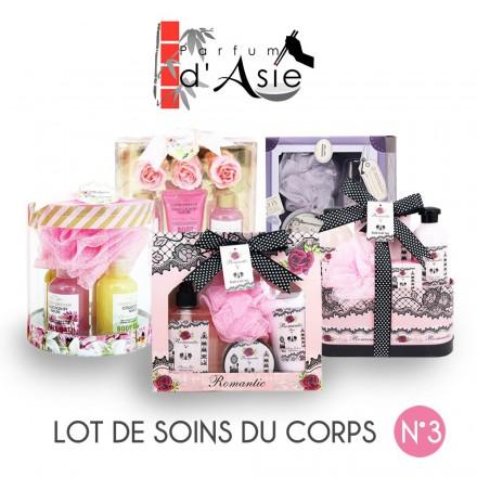 """Pack Noël """"Jardin d'eden"""" Lot de 5 coffrets de soin pour le corps"""